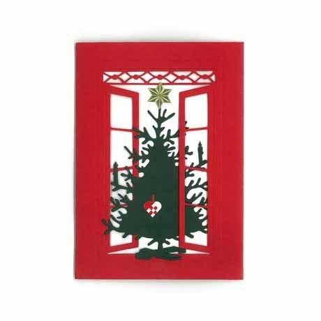 Weihnachtspostkarte Tannenbaum
