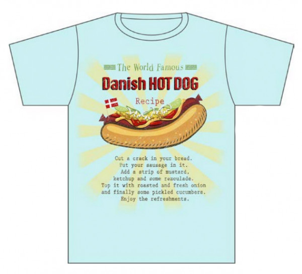 "Memories of Denmark T-Shirt ""Danish Hot Dog"""