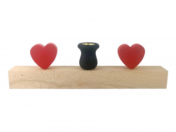 Sebastian Design Kerzenleiste Herzen