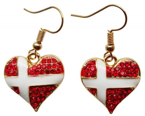 Ohrringe Hjerteflag