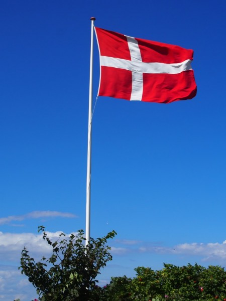 Original dänische Dannebrog Flagge 189cm x 250cm