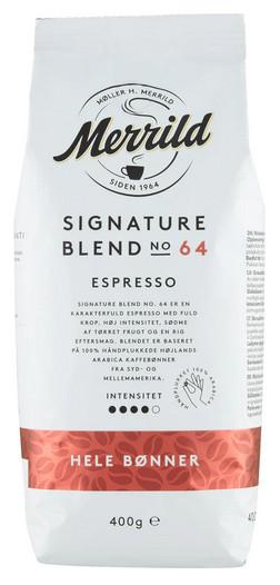Merrild Signature Blend No 64 Espresso Bohnen
