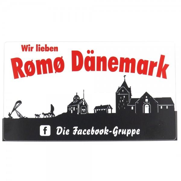 """Aufkleber """"Wir lieben Rømø Dänemark"""""""