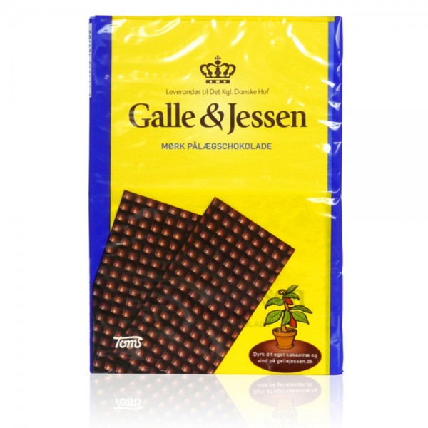 Galle & Jessen Mørk Pålægschokolade