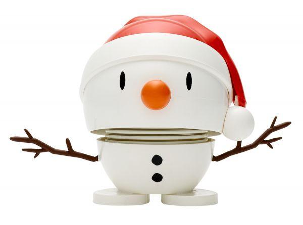 Hoptimist Santa Snowman white
