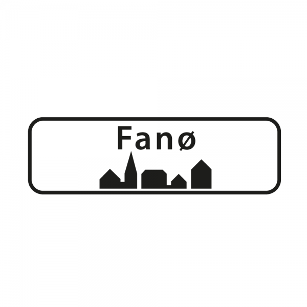Aufkleber Ortsschild Fanø