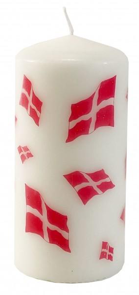 Kerze mit Dänemark Flagge