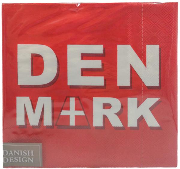 Servietten Schriftzug Denmark
