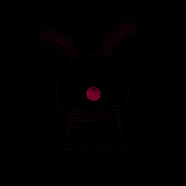 Hoptimist Bunny grau