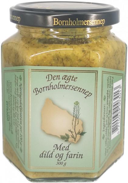 Bornholmersennep mit Dill und Braunem Zucker 300g im Glas