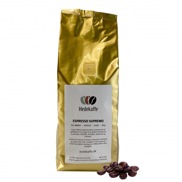 Hedekaffe Espresso Supremo Bohnen