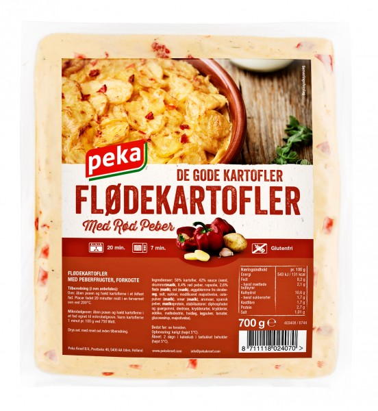 Peka Flødekartofler med Rød Peber