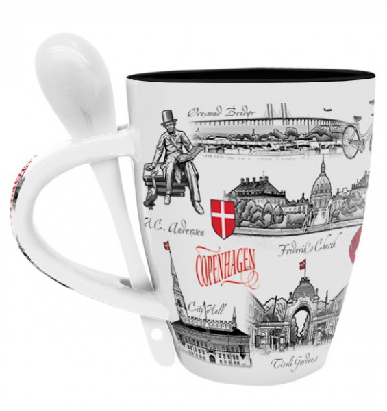 "Royal Collection Tasse mit Löffel ""Copenhagen"""