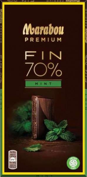 Marabou Premium Fin 70% Mint