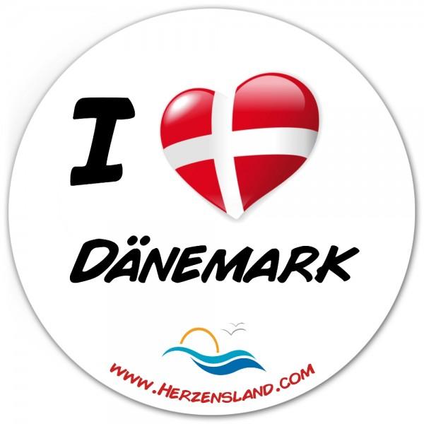 "Aufkleber ""I love Dänemark"""