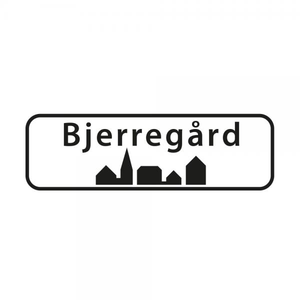 Aufkleber Ortsschild Bjerregård