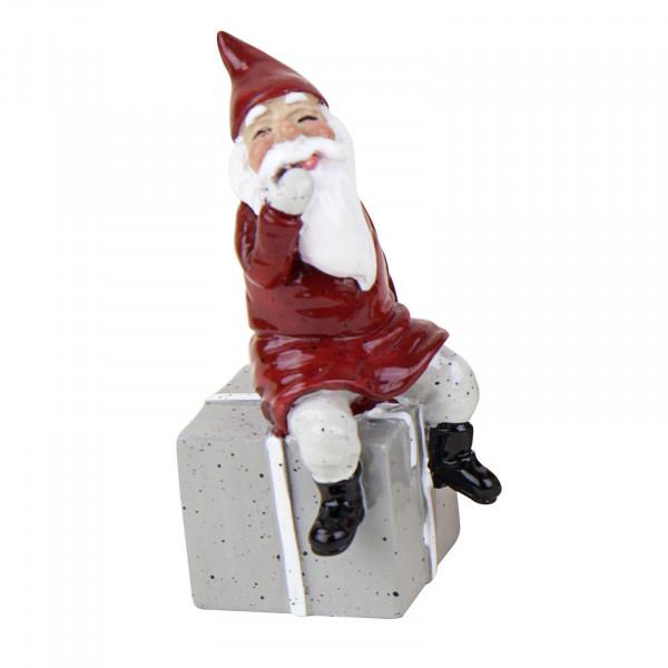 Harvesttime Weihnachtsmann mit grauem Geschenk