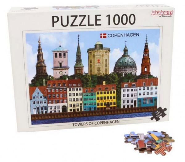 Memories of Denmark 1000-teiliges Puzzle Kopenhagen