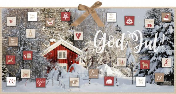 Skandinavischer Adventskalender mit 24 Briefchen