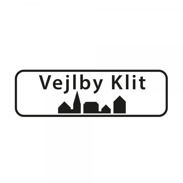 Aufkleber Ortsschild Vejlby Klit