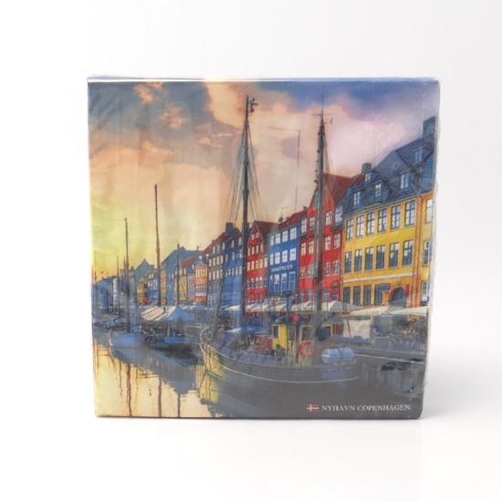 Memories of Denmark Servietten Nyhavn