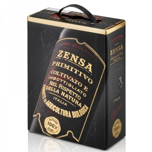Zensa Bio Primitivo Rotwein trocken Bag-in-Box