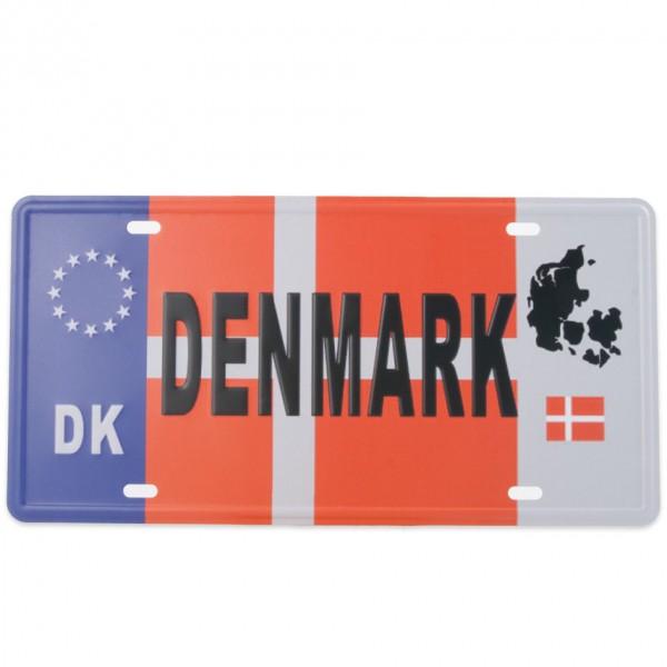 Blechschild Denmark
