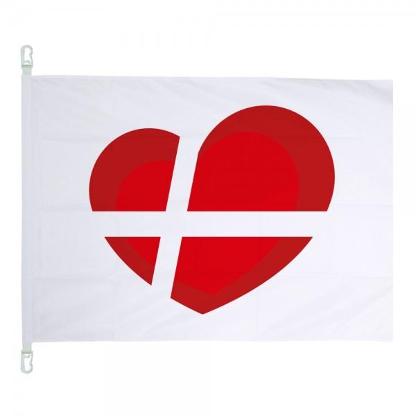 Dänemarkherz Fahne