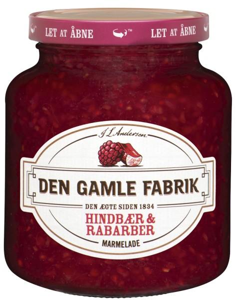 Den Gamle Fabrik Marmelade Himbeere & Rhabarber 380g