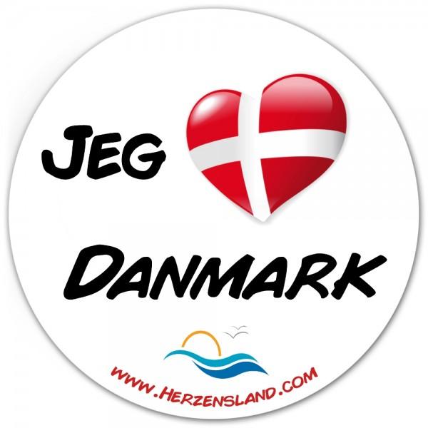 """Aufkleber """"Jeg elsker Danmark"""""""