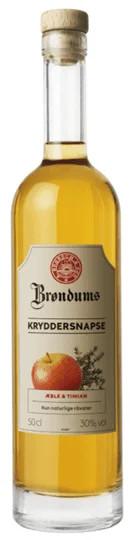 Brøndums Kryddersnaps mit Apfel und Thymian