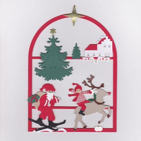 Weihnachtsfenster mit Rentier