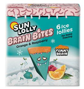 Sun Lolly Brain Bites Orange & Raspberry