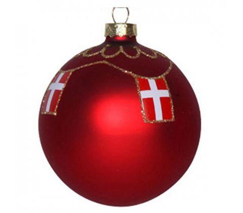 Det Gamle Apotek Weihnachtsbaumkugel Dannebrog