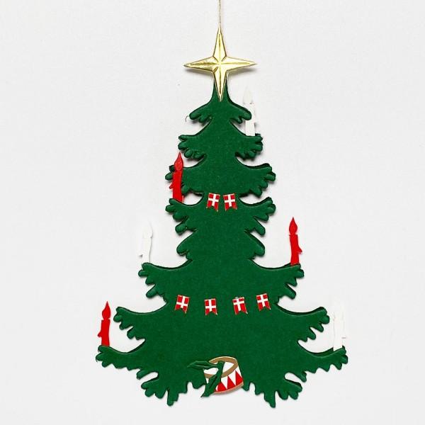 Fensterbild Weihnachtsbaum mit Dannebrog
