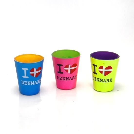 Memories of Denmark Schnapsgläser I Love Denmark – 3er Pack
