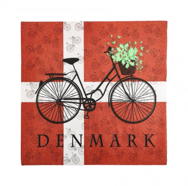 Memories of Denmark Servietten Cykel