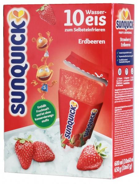 Sun Lolly - Sunquick Wassereis Erdbeere