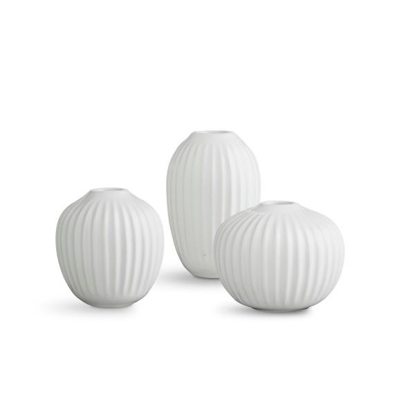 Kähler Design Mini-Vasen Hammershøi weiß (3-teilig)
