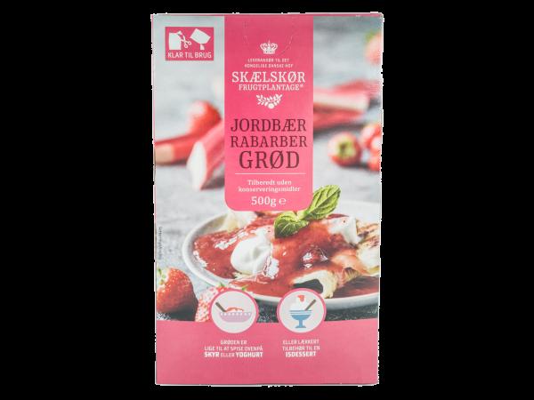 Skælskør Dessert Grød Erdbeere-Rhabarbar