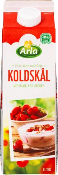 Arla Koldskål mit Dickmilch & Erdbeer