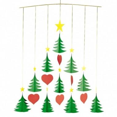 Flensted Mobile mit 10 Weihnachtsbäumen