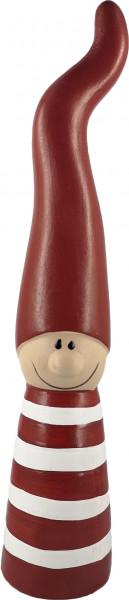 Großer Weihnachtswichtel aus Keramik