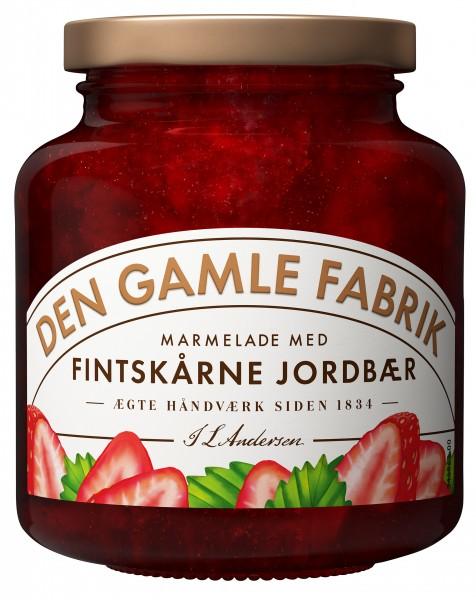 Den Gamle Fabrik Marmelade Erdbeere mit feinen Stücken