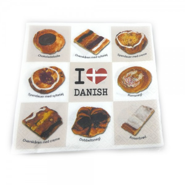 Memories of Denmark Servietten I Love Danish