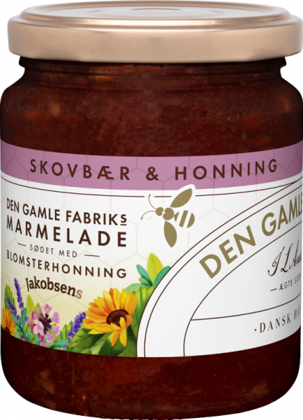 Den Gamle Fabrik Marmelade Waldbeere mit Blütenhonig