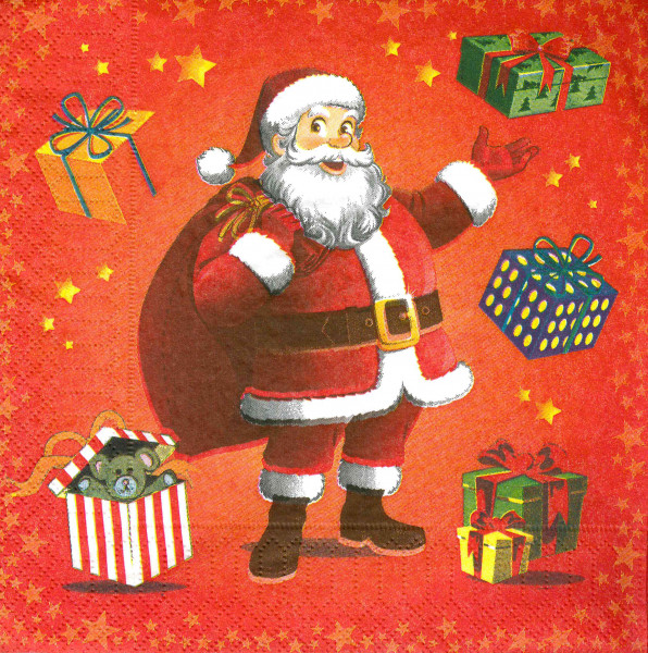 "ASP-Holmblad Servietten ""Kid's Santa"""