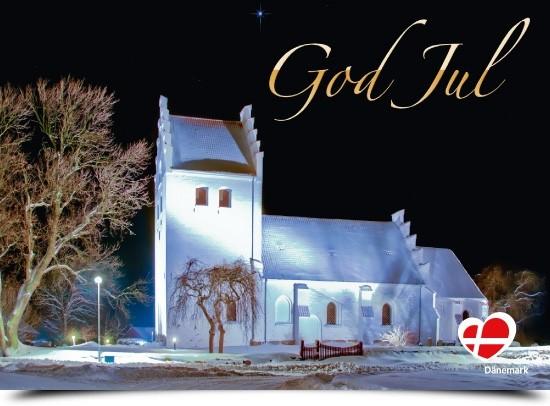 """Postkarte """"God Jul Errindlev Kirche"""""""