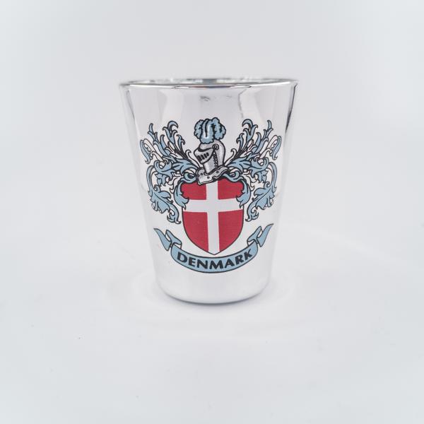 Memories of Denmark Schnapsglas Wappen Silber