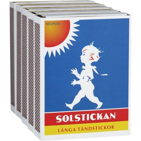 Solstickan Streichhölzer lang 5er-Pack